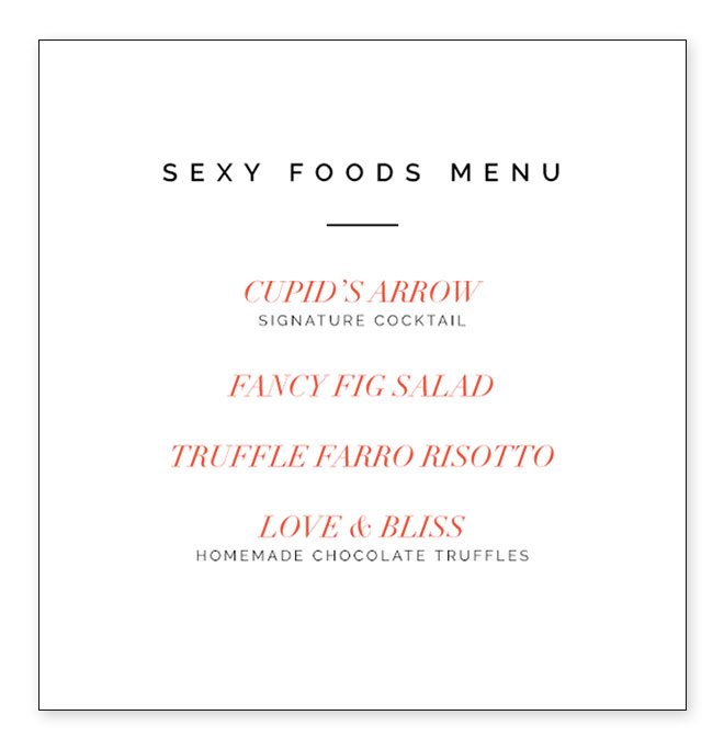 The nobility? Sexy valentines day food ideas