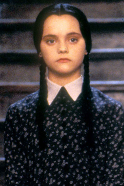 5) THE ADDAMS FAMILY Your Best Alexa Chung Collared Dress + Braids + A Dour Expression = Wednesday Addams