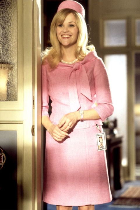 15) LEGALLY BLONDE Ladylike Suit + Text Book + Optional Stuffed Dog = Elle Woods