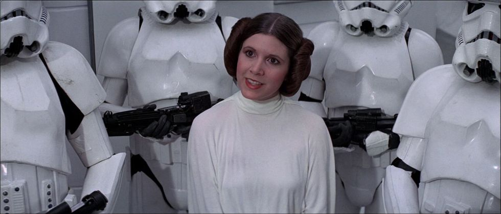 9) STAR WARS A Long White Dress + Two Buns = Princess Leia