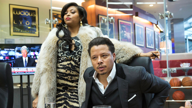 1) EMPIRE All Your Leopard Clothing + Fur Coat + Hoop Earrings + Red Lipstick = Cookie Lyon