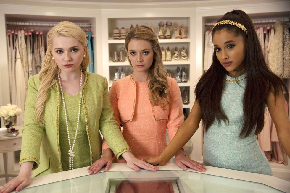 2) SCREAM QUEENS Matching Twinset + Pearls + (Optional Fake Knife With Blood) + Mean Girl Attitude = Chanel Oberlin